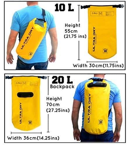 Ultra-Dry Premium Waterproof Bag with Phone Dry Bag